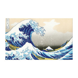 La onda grande de Kanagawa Katsushika Hokusai Impresión En Tela
