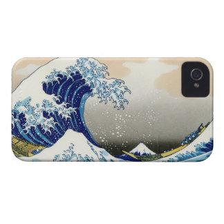 La onda grande de Kanagawa Katsushika Hokusai iPhone 4 Carcasa