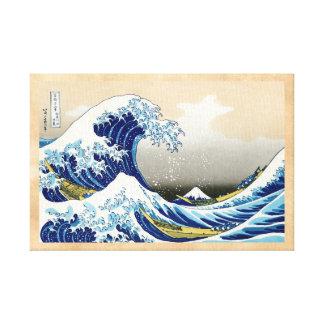 La onda grande de Kanagawa Katsushika Hokusai Lienzo Envuelto Para Galerias