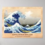 La onda grande de Kanagawa Katsushika Hokusai Poster