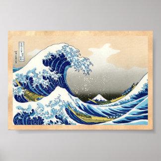 La onda grande de Kanagawa Katsushika Hokusai Póster