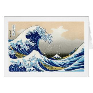 La onda grande de Kanagawa Katsushika Hokusai Tarjeta Pequeña