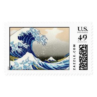 La onda grande de Kanagawa Katsushika Hokusai Timbres Postales
