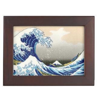 La onda grande del arte de Kanagawa Hokusai Katsus Cajas De Recuerdos