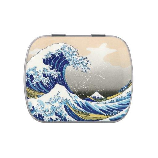 La onda grande del arte de Kanagawa Katsushika Hok Latas De Dulces