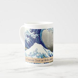 La onda grande del arte de Kanagawa Katsushika Hok Taza De Porcelana