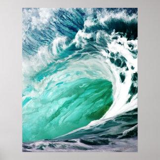La onda grande guarda en el balanceo póster