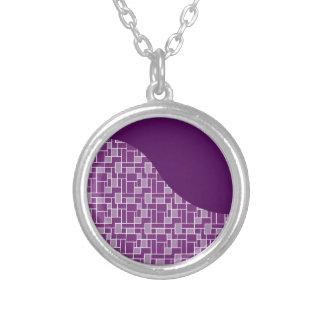 La onda púrpura bonita tejó los regalos del modelo collar