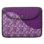 La onda púrpura bonita tejó los regalos del modelo funda para macbooks