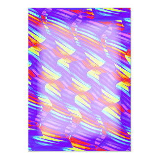 """La onda púrpura brillante colorida tuerce las invitación 5"""" x 7"""""""