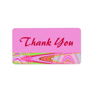 la onda rosada le agradece etiqueta de dirección