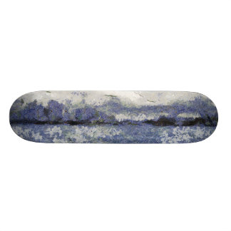 La onda se hincha en un día nublado patines personalizados