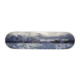 La onda se hincha en un día nublado skateboards