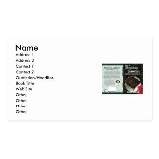 La opción del autor tarjetas de visita