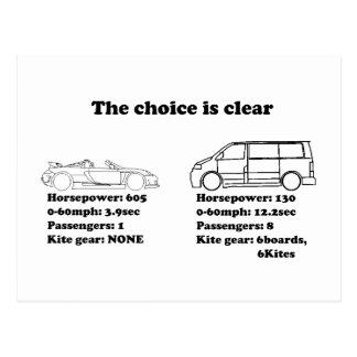 la opción está clara postal
