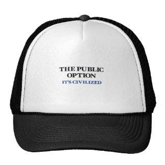 La opción pública gorros