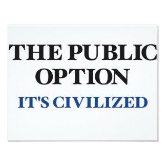 La opción pública invitacion personalizada