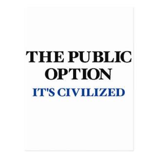 La opción pública postal