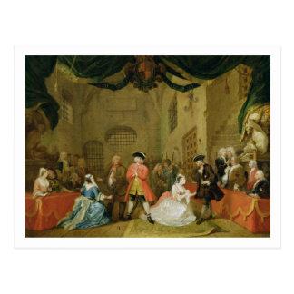 La ópera del mendigo, escena III, acto XI, 1729 Postal