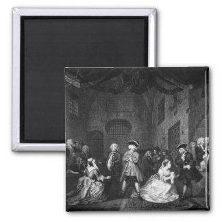 La ópera del mendigo, escena III, acto XI, c.1728 Imanes