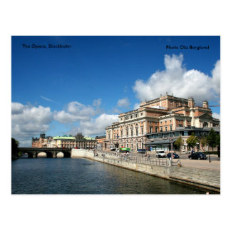 La ópera, Estocolmo, Ola B de la foto… Tarjetas Postales