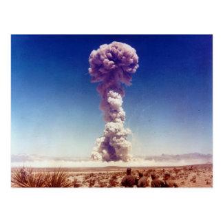 La operación de prueba de las armas nucleares tarjetas postales