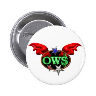 La operación Wall Street de OWS se une al movimien Pin Redondo 5 Cm
