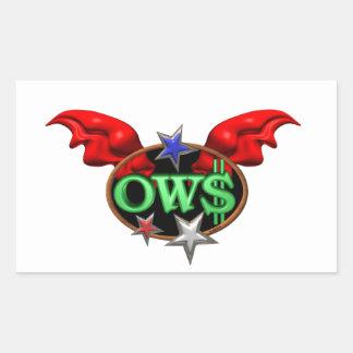 La operación Wall Street de OWS se une al Pegatina Rectangular