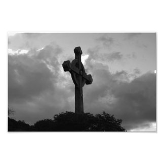La opinión de dios (cruz de B&W) Foto
