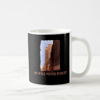 La opinión de la calle de WTC nunca olvida 9/11 de Taza