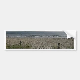 La opinión de la costa pegatina de parachoque