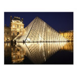 La opinión de la noche de la pirámide de cristal postales