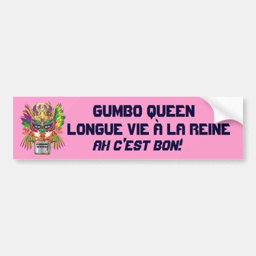 La opinión de la reina del Gumbo del carnaval hace Etiqueta De Parachoque