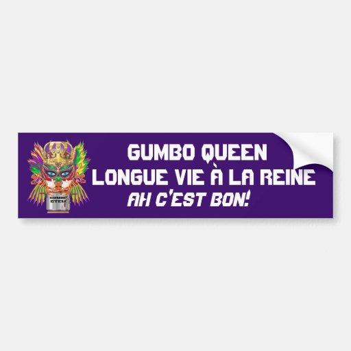 La opinión de la reina del Gumbo del carnaval hace Pegatina De Parachoque