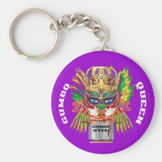 La opinión de la reina del Gumbo del carnaval hace Llavero Redondo Tipo Pin