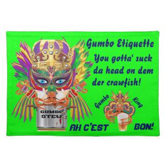 La opinión de la reina del Gumbo del carnaval hace Mantel Individual