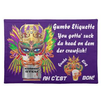 La opinión de la reina del Gumbo del carnaval hace Manteles Individuales