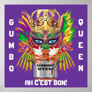 La opinión de la reina del Gumbo del carnaval hace Posters