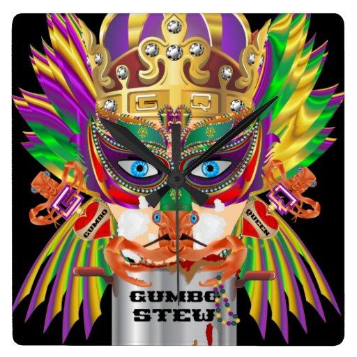 La opinión de la reina del Gumbo del carnaval hace Reloj Cuadrado