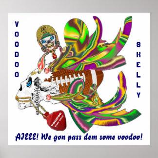 La opinión de Skelly del vudú del carnaval del Póster