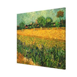 La opinión de Van Gogh de Arles w irisa, bella Impresiones En Lona