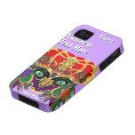 La opinión del Bacchus de la mitología del carnava iPhone 4/4S Carcasa