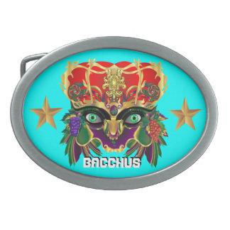 La opinión del Bacchus de la mitología del carnava Hebillas De Cinturón Ovales