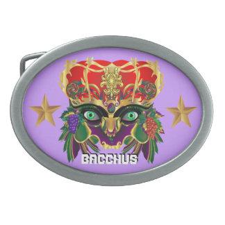 La opinión del Bacchus de la mitología del Hebilla Cinturón Oval