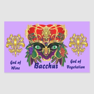 La opinión del Bacchus de la mitología del Pegatina Rectangular