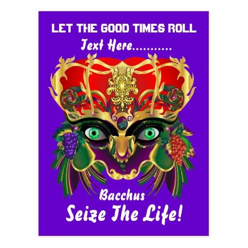 La opinión del Bacchus de la mitología del Postales