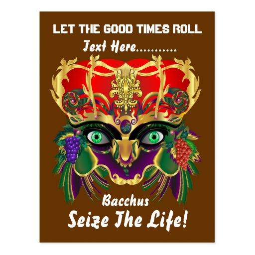 La opinión del Bacchus de la mitología del Tarjetas Postales