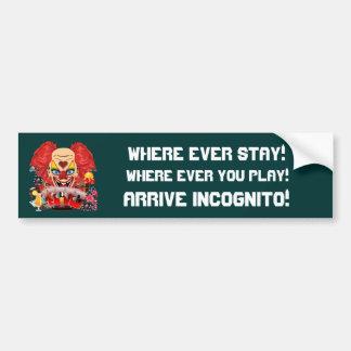 La opinión del payaso del casino observa por favor etiqueta de parachoque