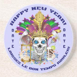 La opinión del personalizar del Año Nuevo del carn Posavasos Personalizados