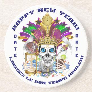 La opinión del personalizar del Año Nuevo del carn Posavasos Diseño